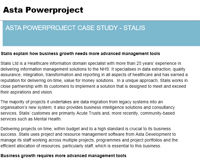 Asta Powerproject Case Study – Brown & Carroll