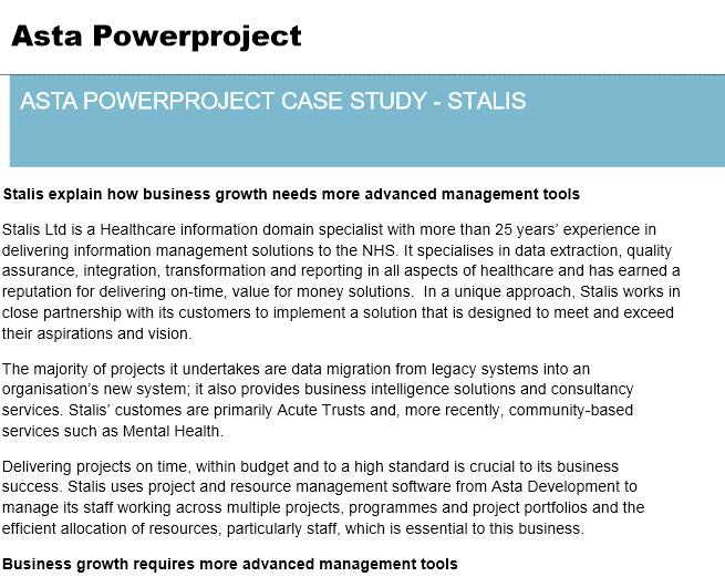 Asta Powerproject Case Study – Brown & Carroll
