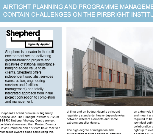 Asta Powerproject Case Study – Shepherd