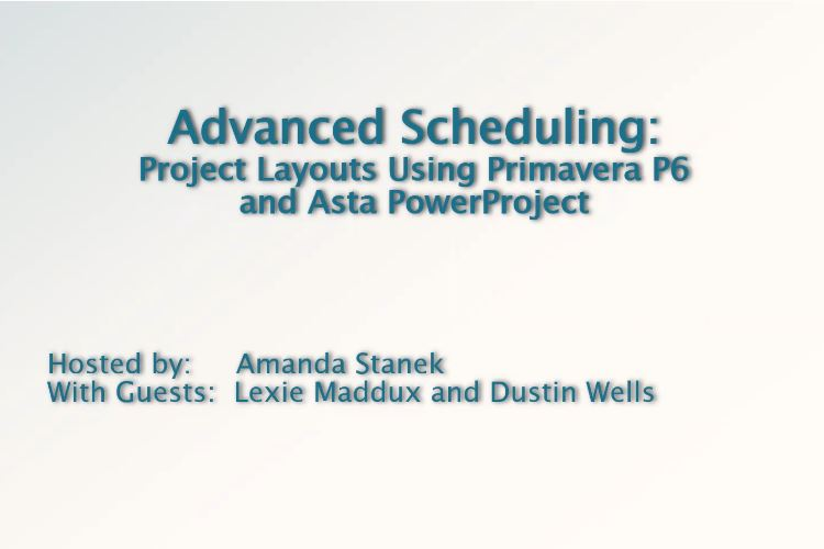 Project Layouts Using P6 and Asta Powerproject